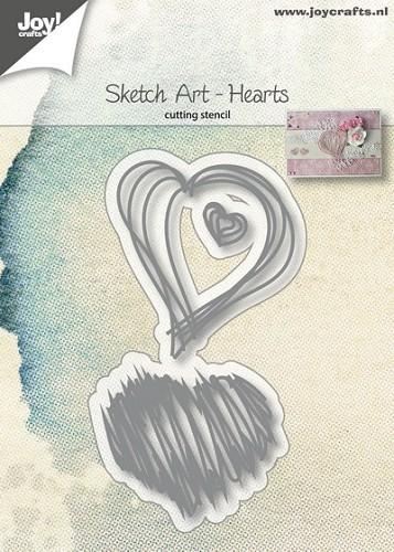 Joy Stencil - Sketch Art - hearts