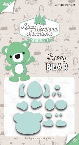 Joy Stencil - DenDennis Little Woodland Adventures - Berry Bear