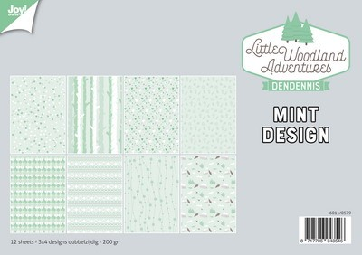 Joy Paper Pack - DenDennis Little Woodland Adventures - Mint Design