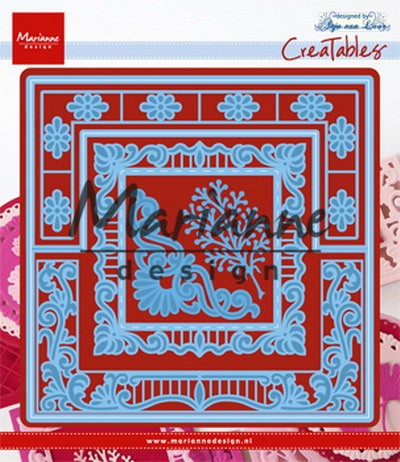 Creatables Marianne Design - Anja`s Lacy Folding Die - square