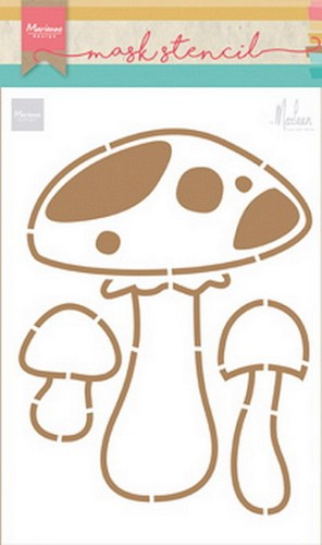 Marianne Design Craft Stencil - By Marleen - mushrooms
