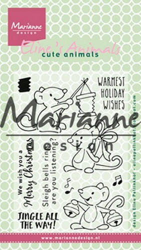 Clearstamps Marianne Design - Eline`s christmas mice