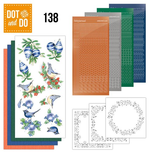Dot & Do Hobbydots Pakket - blue christmas