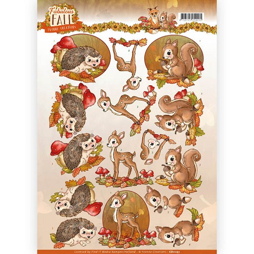 Knipvel Yvonne Creations - Fabulous Fall CD11157