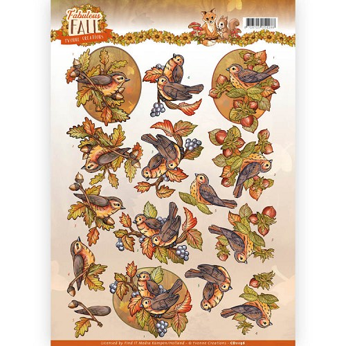 Knipvel Yvonne Creations - Fabulous Fall CD11156