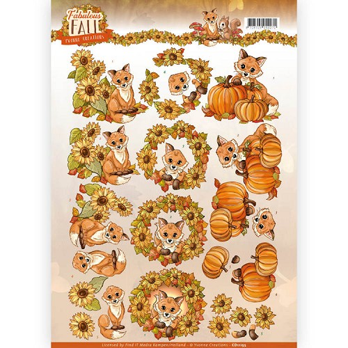 Knipvel Yvonne Creations - Fabulous Fall CD11155