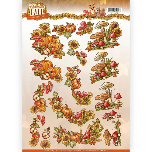 Knipvel Yvonne Creations - Fabulous Fall CD11154