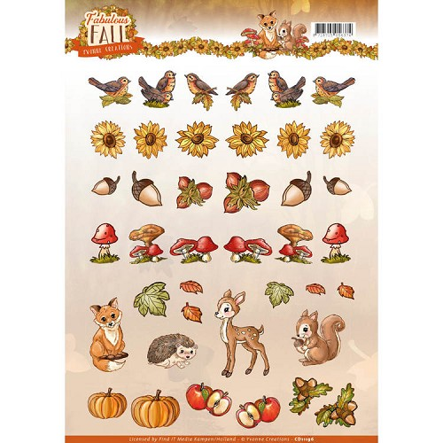 Knipvel Yvonne Creations - Fabulous Fall - mini CD11196