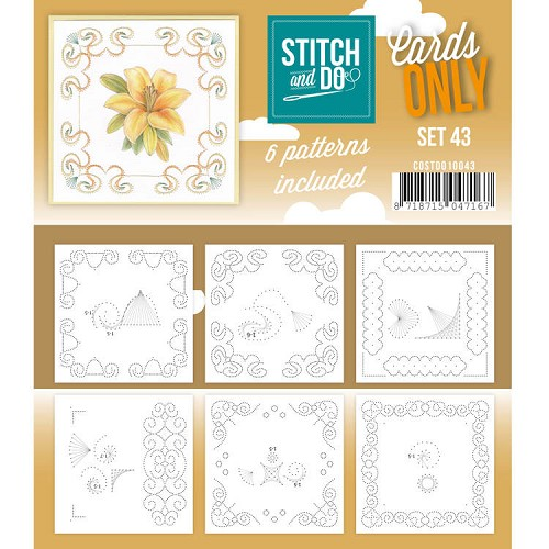 Stitch and Do Cards Only - set 43
