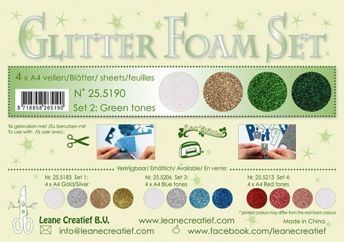 Glitter Foam set 2 - green tones