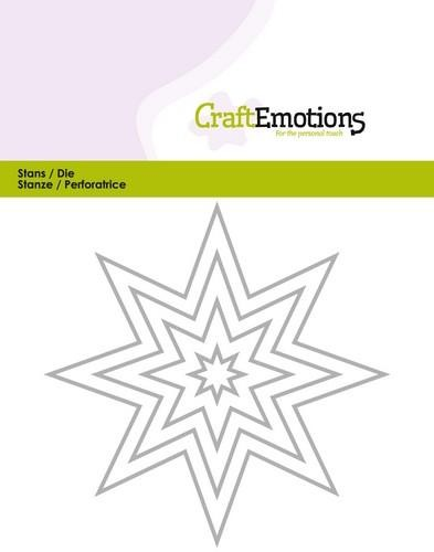 Craft Emotions Stans - edges 8 pointed star