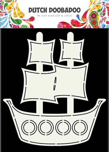 Dutch Doobadoo Card Art - pirate ship A5
