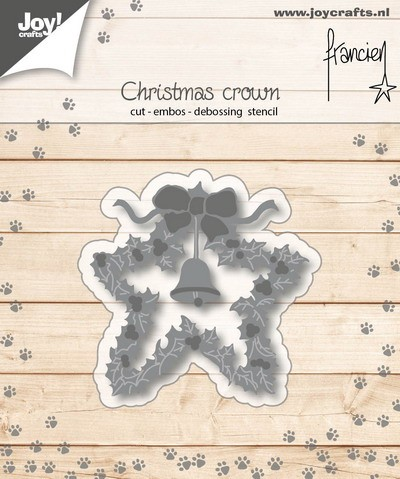 Joy Stencil - Franciens Katten - christmas crown