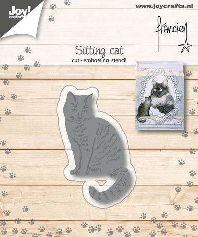 Joy Stencil - Franciens Katten - sitting cat