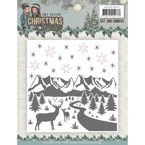 Cut and Emboss Folder Amy Design - Christmas Wishes