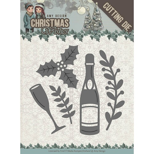 Amy Design Stans - Christmas Wishes - champagne