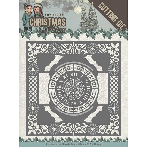 Amy Design Stans - Christmas Wishes - twelve o`clock frame