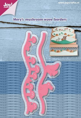 Joy Stencil - Mery`s mushroom wave borders