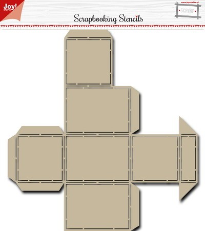 Joy Scrapbooking Stencil - candy dispenser