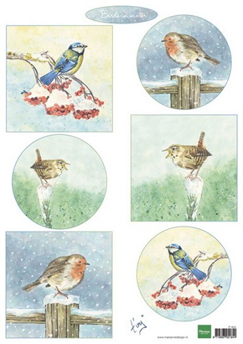 Knipvel Marianne Design - Tiny`s Birds in Winter