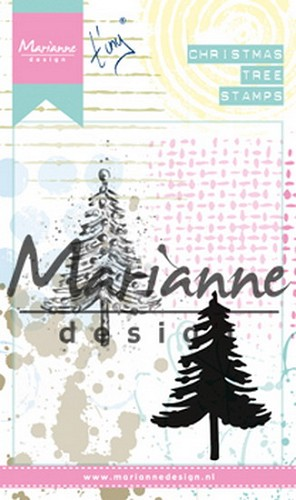Marianne Design Cling Stamp - christmas tree