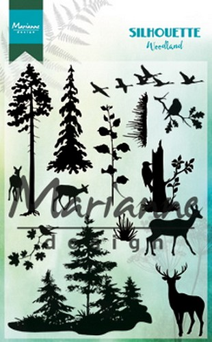 Marianne Design Clear Stamps - Silhouette - woodland