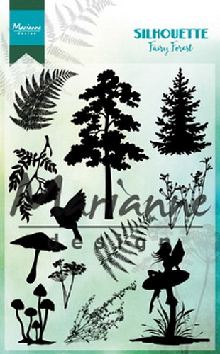 Marianne Design Clear Stamps - Silhouette - fairy forest