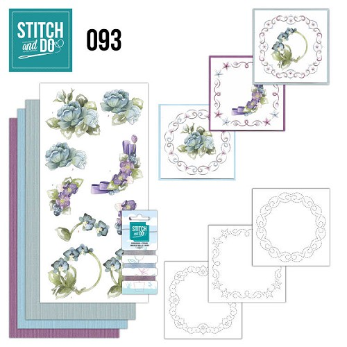 Stitch and Do Pakket - winter flowers