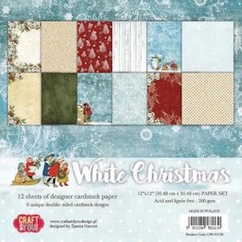 Craft & You Paper Pad - White Christmas (12 x 12 inch)