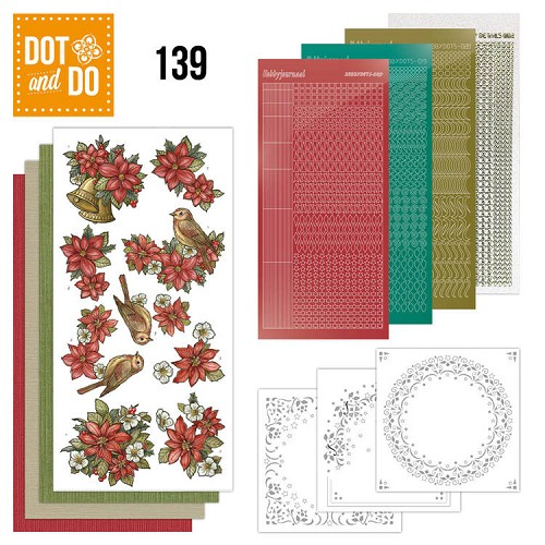 Dot & Do Hobbydots Pakket - poinsettia christmas