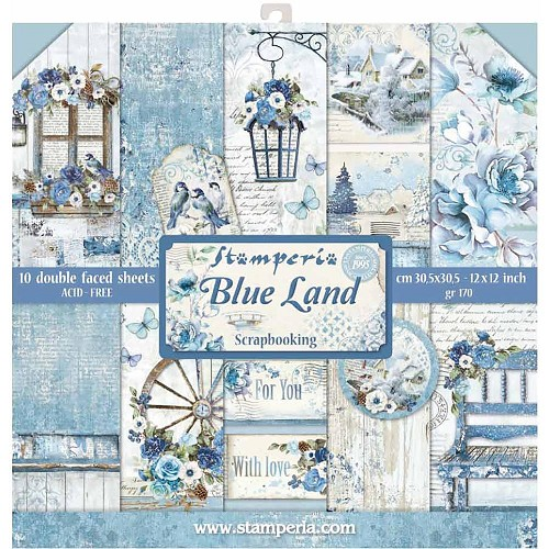 Stamperia Paper Pad - Blue Land