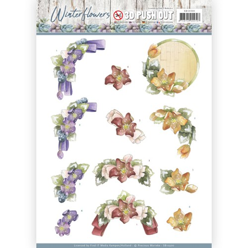 Stansvel Precious Marieke - Winter Flowers SB10300