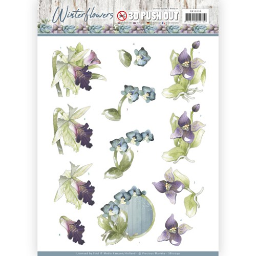 Stansvel Precious Marieke - Winter Flowers SB10299