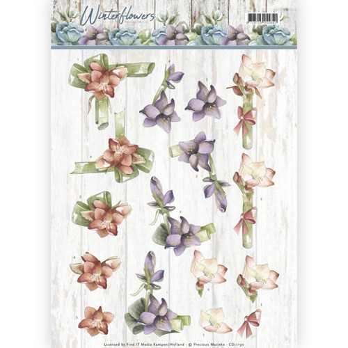 Knipvel Precious Marieke - Winter Flowers CD11190