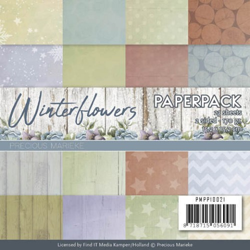 Paper Pack Precious Marieke - Winter Flowers
