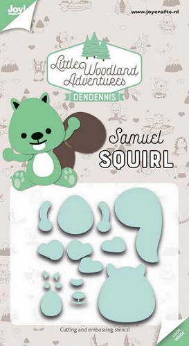 Joy Stencil - DenDennis Little Woodland Adventures - Samuel Squirl