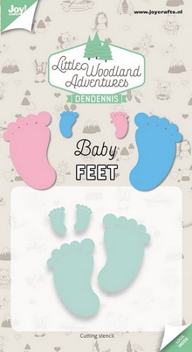 Joy Stencil - DenDennis Little Woodland Adventures - Baby Feet