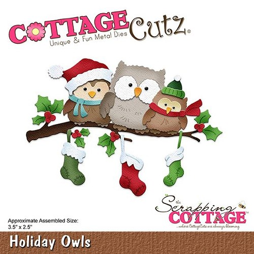 Cottage Cutz Stans - holiday owls