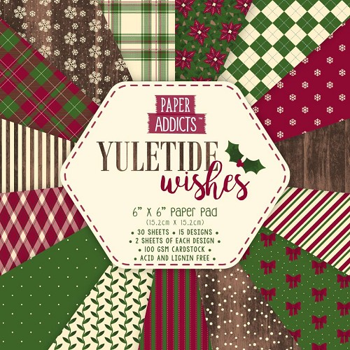 Paper Addicts paper pad - Yuletide Wishes (6 x 6 inch)