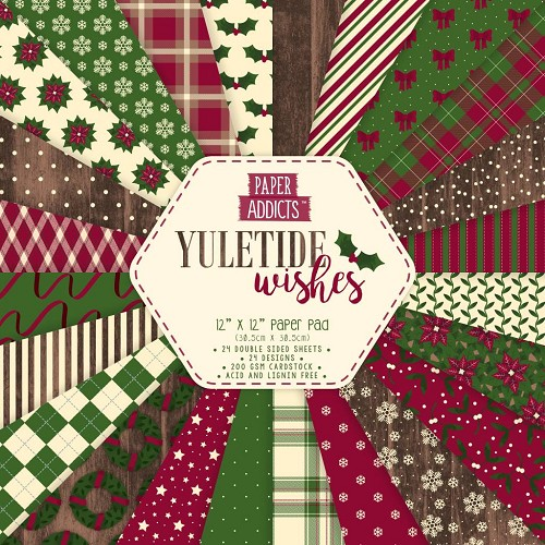 Paper Addicts paper pad - Yuletide Wishes (12 x 12 inch)