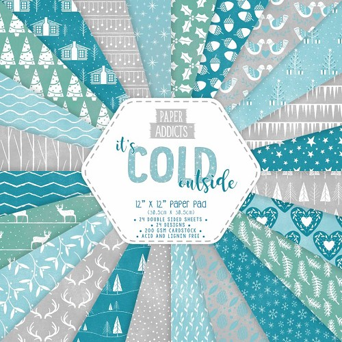 Paper Addicts paper pad - It`s Cold Outside (12 x 12 inch)