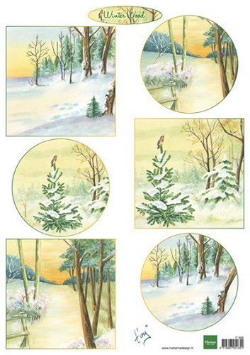 Knipvel Marianne Design - Tiny`s Winter Wood