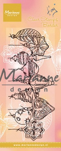 Clearstamps Marianne Design - Tiny`s Border - kerstballen