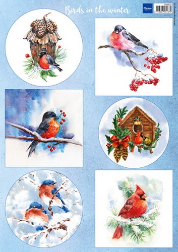 Knipvel Marianne Design - Birds in the Winter