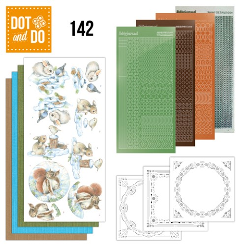 Dot & Do Hobbydots Pakket - Winter Woodland