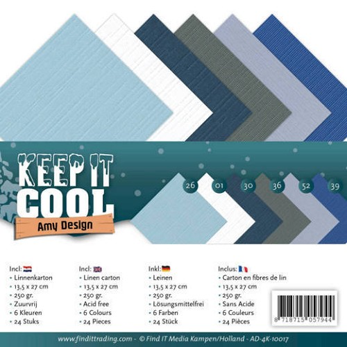 Linnenkarton Amy Design - Keep it Cool (vierkant)
