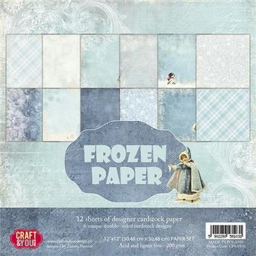 Craft & You Paper Pad - Frozen Paper (12 x 12 inch)