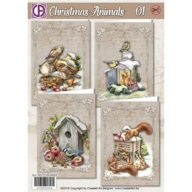 Creatief Art Kaartenpakket - Christmas Animals 01