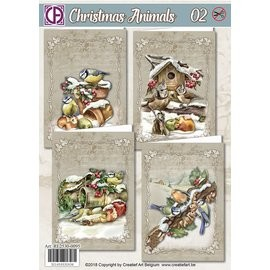 Creatief Art Kaartenpakket - Christmas Animals 02