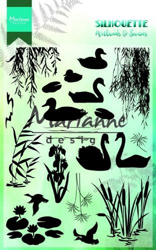 Clearstamps Marianne Design - Silhouette - Wetlands & Swans